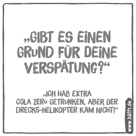 5 gute Ausreden · Häfft.de