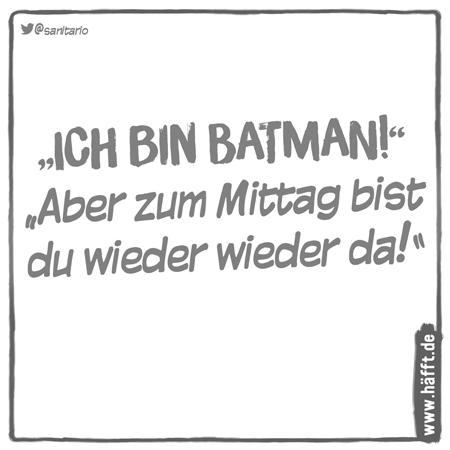 Lustiges über Batman Häfft De