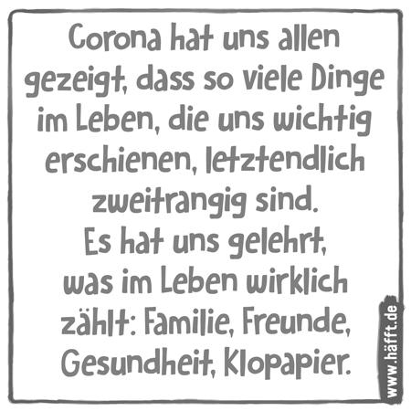 7 Passende Spruche Zur Corona Zeit Hafft De