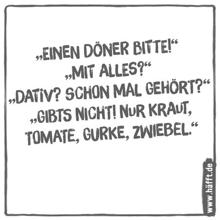 6 Lustige Sprüche über Döner · Häfft.de