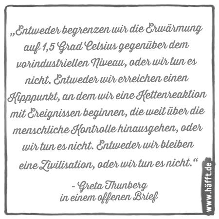 8 Zitate Zum Weltumwelttag Von Greta Thunberg Häfftde