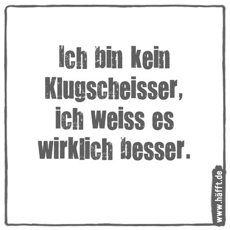 7 Sprüche über Klugscheißer · Häfft.de