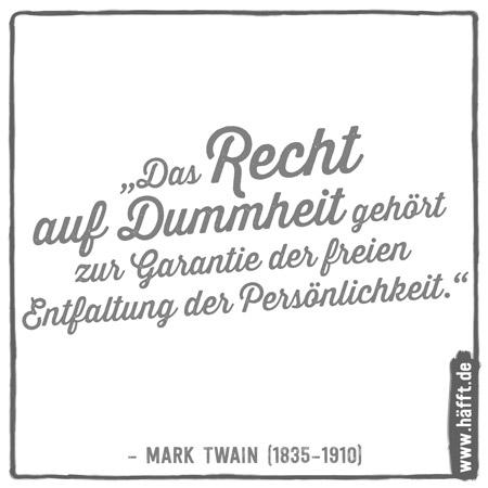 Die 15 besten Zitate von Mark Twain · Häfft.de