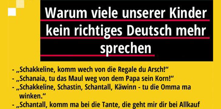 Warum Viele Kinder Kein Richtiges Deutsch Mehr Sprechen